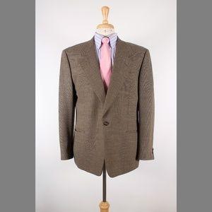 #Canali 50/40R Brown Solid Wool 1B Sport Coat 67-B